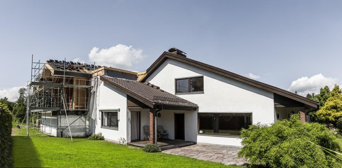 Extension latérale de maison
